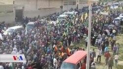 Bi Hezaran Efrînîyên li Şehba Tirkîye Protesto Kir