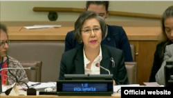 이양희 유엔 미얀마 담당 인권특별보고관.