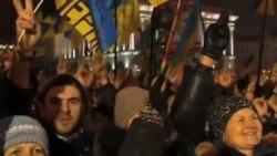 烏克蘭反政府抗議仍繼續歐盟鼓勵當局簽約