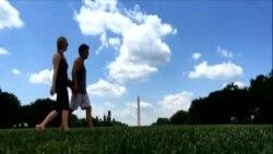 '미국의 앞마당' 내셔널몰 잔디 정비
