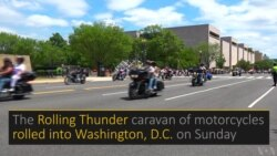 Rolling Thunder Rolls Into Washington
