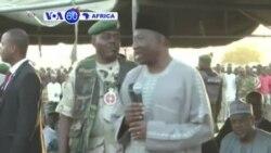 VOA60 Afirka: Shugaba Jonathan Ya Ziyarci Mutanen Da 'Yan Boko Haram Suka Raba da Gida, Najeriya, Janairu 16, 2015