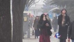 北京市民抱怨雾霾