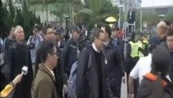 佔中三子自首 警方拒絕逮捕和指控