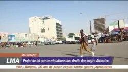 Projet de loi sur les violations des droits de l'homme en Mauritanie