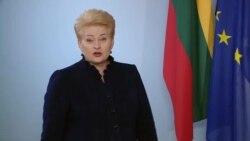 Привітання президента Литви. Відео