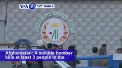 VOA60 World PM - Afghanistan: A suicide bomber kills at least 3 people in the capital of Kabul