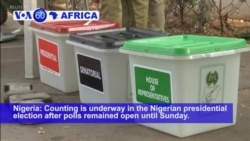 VOA60 Africa - Nigeria's Buhari Takes Election Lead; Opposition Rejects Results