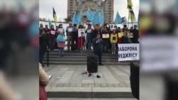 Представители крымско-татарского народа, общественные деятели митингуют против политики Россиижданских свобод в Крыму.