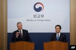 지난 1월 서울을 방문한 스티븐 비건 미국 국무부 대북특별대표가 북한의 비핵화 실무협상 복귀를 촉구했다.