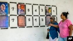 Affiches de campagne à Tunis, le 2 septembre 2019.