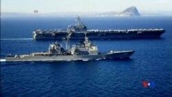 2015-04-21 美國之音視頻新聞:五角大樓向也門海岸派遣航空母艦