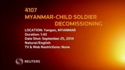 4107EV MYANMAR CHILD SOLDIER DECOMISSIONING