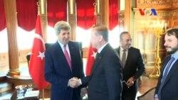 Erdoğan Kerry ile Görüştü