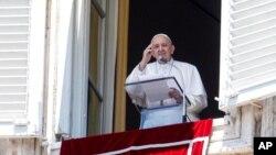 Paus Fransiskus di Vatikan, 5 Juli 2020.