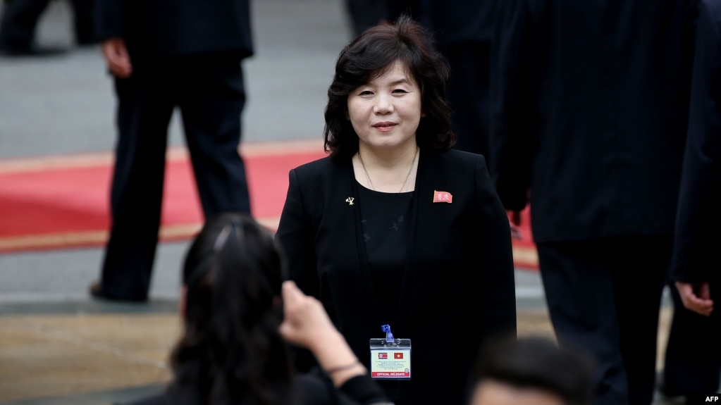 Tư liệu- Thứ trưởng Ngoại giao Triều Tiên Choe Son Hui dự lễ chào mừng lãnh tụ Kim Jong Un tại Dinh Chủ tịch ở Hà Nội, ngày 1/3/2019.