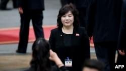 2019年3月1日,北韓第一副外相崔善熙出席在河內歡迎北韓領導人金正恩的歡迎儀式。