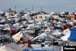A general view of al-Hol displacement camp in Hasaka governorate, northeastern Syria, April 1, 2019.