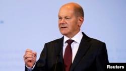 Wakil Kanselir Jerman dan Menteri Keuangan Olaf Scholz di Berlin, Jerman, 7 Oktober 2020.
