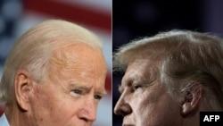 미국 공화당 대선후보인 도널드 트럼프 대통령(오른쪽)과 민주당 후보인 조 바이든 전 부통령.