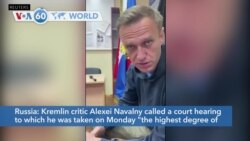 VOA60 World- Kremlin critic Alexei Navalny appears in public, taken to jail after court hearing
