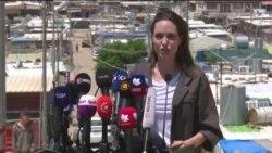 بازدید آنجلینا جولی از اردوگاه آوارگان عراقی و سوری در اقلیم کردستان