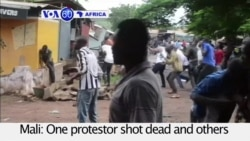 VOA60 Africa - Mali: One protestor shot dead and others injured by police in Bamako