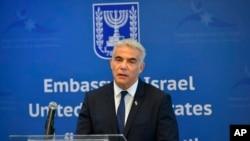 야이르 라피드 이스라엘 외무장관.