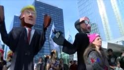布魯塞爾發生抗議北約和川普活動(粵語)
