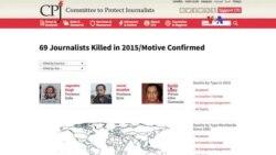 69 periodistas asesinados en 2.015