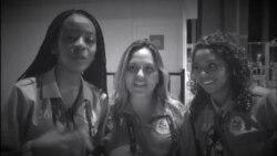 Os Invisíveis: Três estudantes voluntárias durante os Jogos Olímpicos