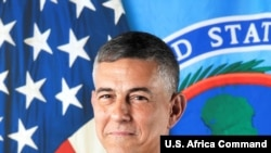"""""""We know the Chinese desire a network of bases around the globe,"""" U.S. Africa Command's Gen. Stephen Townsend told U.S. lawmakers April 22, 2021, in Washington. (U.S. Africa Command photo)"""