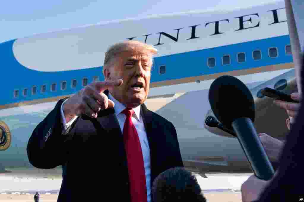 پرزیدنت ترامپ قبل از سوار شدن به هواپیما برای سفر به تگزاس، با خبرنگاران گفت و گوی کوتاهی داشت . او تلاش دموکراتها برای استیضاح خود را اقدام «کاملا مضحک» نامید و هشدار داد این کار باعث «خشم بزرگی» خواهد شد.