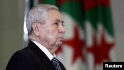 Le président par intérim de l'Algérie, Abdelkader Bensalah, le 09 avril 2019.
