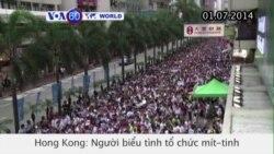 Người dân HongKong biểu tình ủng hộ dân chủ (VOA60)