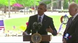 奥巴马安抚奥兰多枪击惨案死难家属 再次强力敦促控枪