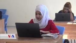 کچانی کوبانی هەوڵی فێربونی بەرنامەکانی کۆمپیوتەر دەدەن بۆ دەستکەوتنی کار