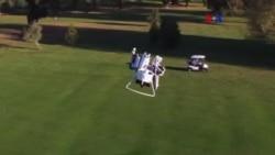 Primera mochila propulsora para golf