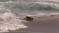 Pooches Hit The Waves in Surf Contest