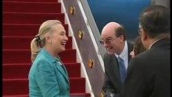 克林頓抵達汶萊訪問