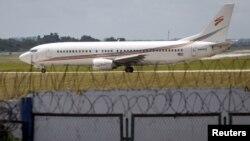یک هواپیمای اجاره ای آمریکایی در فرودگاه بین المللی حوزه مارتی در هاوانا در انتظار برخاستن از باند پرواز. ۱۸ سپتامبر ۲۰۱۵