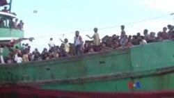 緬甸海軍救起被困船民