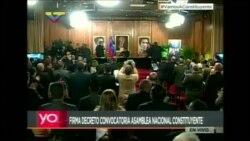 Maduro firma convocatoria a nueva Constituyente