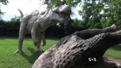 American Roadside Attraction 'Dinosaur Land' Lures Visitors