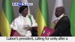 VOA60 Africa- Ali Bongo is sworn back in as Gabon's president