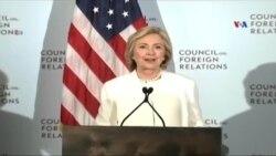 Hillari Klinton: ABŞ İŞİD-ə qarşı mübarizənin önündə getməlidir
