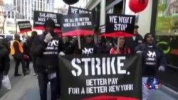 快餐业工人要求结束剥削、增加工资