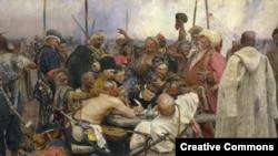 Картина Ильи Репина «Запорожцы». 1880-1891