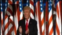 共和党总统候选人川普发表接受提名演说