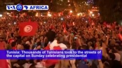 VOA60 Africa - Tunisia Polls Suggest Conservative Professor Wins Election